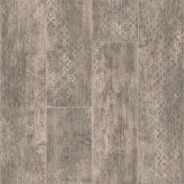 CARCASSONNE, PATTERNED WOOD - 5019 Blend Medium Grey